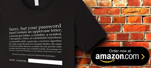 funny password t-shirt