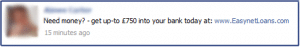 """Facebook Hit by """"Payday Loan"""" Spam"""
