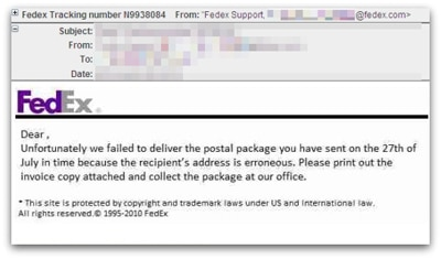 Fedex Email Scams – Be Aware - ThatsNonsense.com