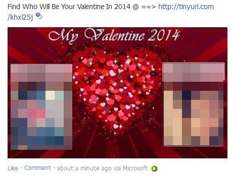 Find Who Will Be Your Valentine In 2014 @ U003du003du003e