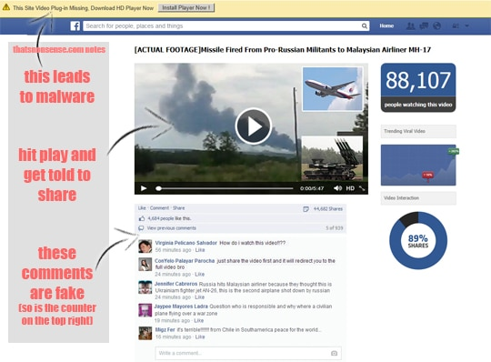 MH17 crash video scams hit the Internet