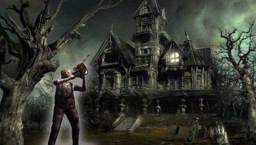 Did a man walk into a haunted house with a chainsaw and kill 7 people?