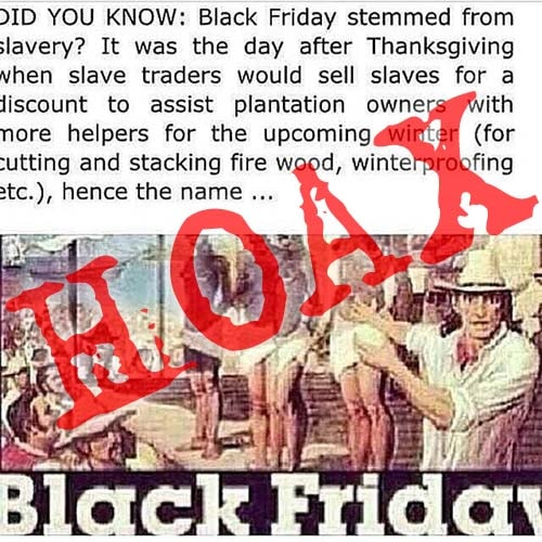 Was Black Friday Named After The Slave Trade Thatsnonsense Com