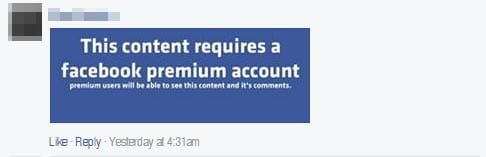 Only viewable to Facebook Premium users? It's a joke