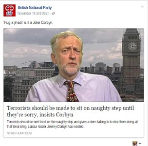 terrorists should made naughty step until theyre sorry insists corbyn