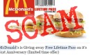Is McDonald's giving free lifetime passes for 61st anniversary? SCAM