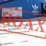Is Adidas giving away free shoes on Facebook? No.