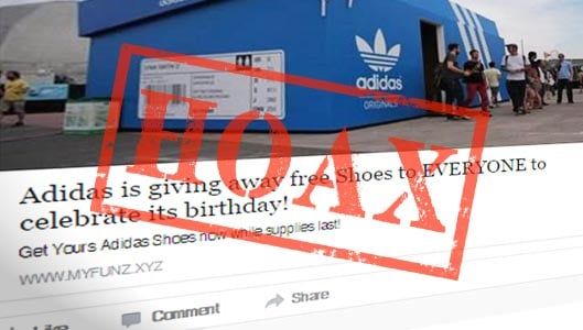 Is Adidas giving away free shoes on Facebook? No ...