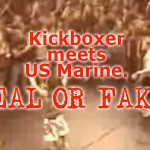 The Bohemian Kickboxer meets US Marine video. Real or fake?
