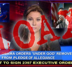 "Has President Obama removed ""under God"" from Pledge of Allegiance?"