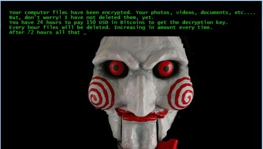 New ransomware strain rips off the 'Saw' movies