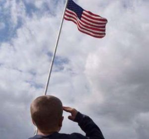 Is photo of Timmy saluting the flag being removed by Facebook?