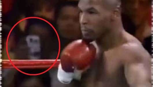 Was there a time traveller with smartphone at 1995 Tyson fight