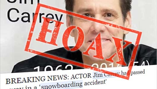 Beware of Jim Carrey snowboarding death links – they're scams