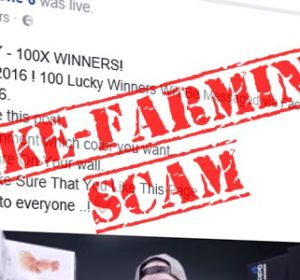 Like-Farming scammers using Facebook Live Video