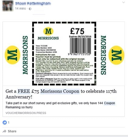 Redeeming your Morrisons voucher code is this easy If you see a voucher you like, click to visit the store page or to reveal the secret code that will fetch you your discount or other benefit. This takes you to the store home page or the relevant page on the site/5(3).