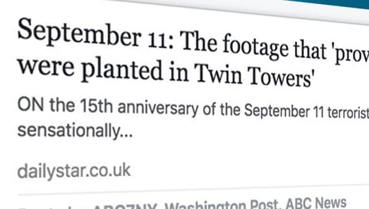 9/11 conspiracy theory enters Facebook's Trending Topics section