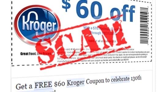 Watch out for '$60 Kroger coupon' scam links spreading on Facebook