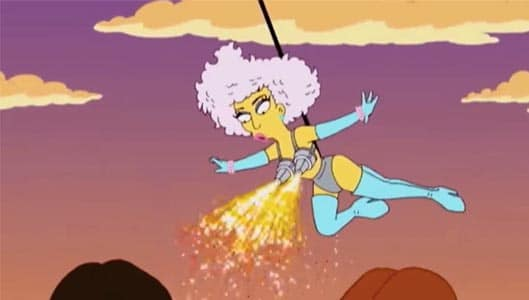 Did the Simpsons predict Lady Gaga's Super Bowl performance? We weren't impressed…