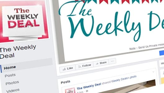"Beware of ""Weekly Deal"" and ""Weekly Deals"" fake Facebook pages"