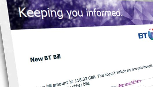 Beware of convincing BT email that installs malware