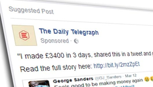 Facebook is now promoting blatant work-from-home scams