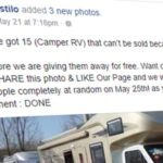 You won't win a Camper RV for sharing a Facebook post. It's a scam (again)