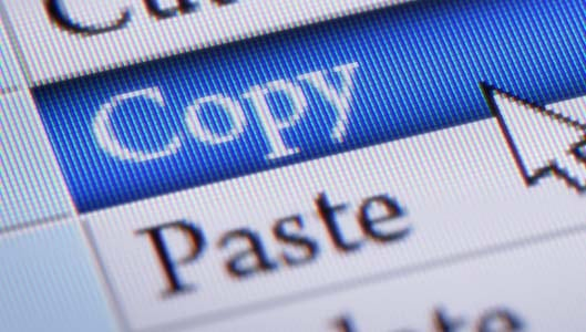 How do you copy and paste in facebook