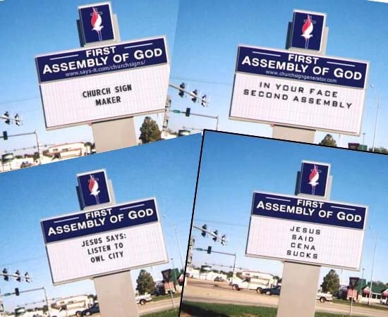 church sign omg this al church billboard is an accurate representation of a