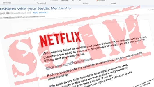 Watch out for convincing Netflix phishing email scams after your login details