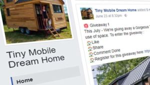 "Scam Facebook posts claim you can win ""Tiny Dream House"""