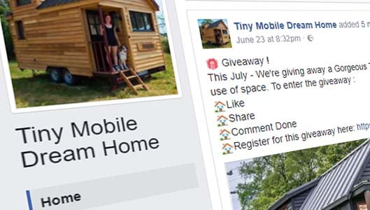 """Scam Facebook posts claim you can win """"Tiny Dream House"""""""