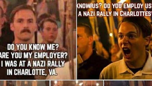 Online campaign is trying to get Charlottesville rally attendees fired