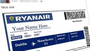 """WestJet or RyanAir """"gifting"""" 2 free tickets to everyone? No, it's another scam"""