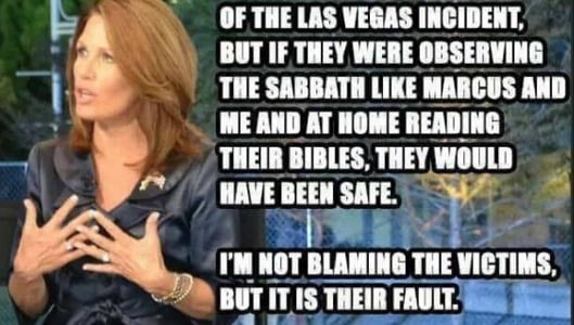 Did Michele Bachmann say Las Vegas victims should have been home during Sabbath? Fact Check