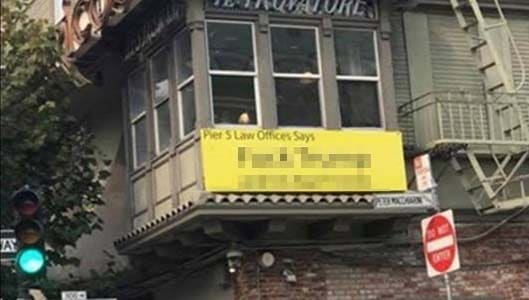 Offensive Trump sign in law office window? It's real