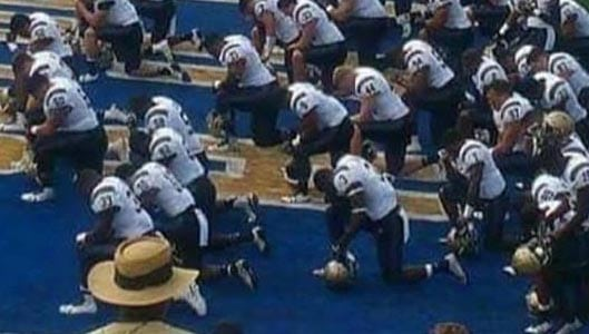 Did US Army football team kneel in protest during anthem? Fact check