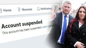 Britain First Twitter account suspended; including accounts of Britain First leaders