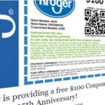 Is Kroger giving away $100 coupons to those who click a Facebook link?