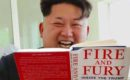 "Fake photo spreads showing Kim Jong Un reading ""Fire and Fury"""