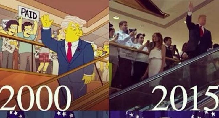 Did The Simpsons predict the Donald Trump presidency? Fact Check - ThatsNonsense.com
