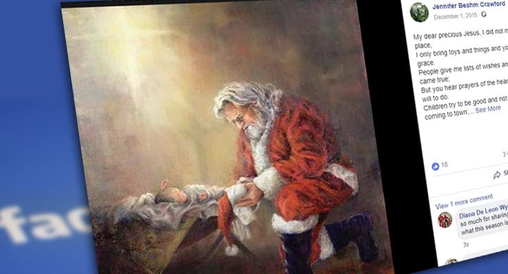 Is Facebook censoring image of Santa and baby Jesus? Fact Check ...