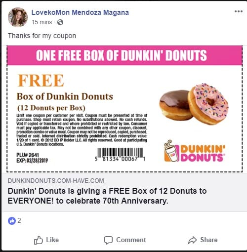 Dunkin Donuts Coupon Codes, Printable coupons, and Promo Codes