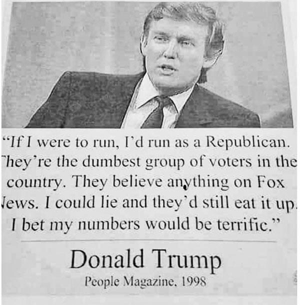"""People Magazine Trump Quote 1998: Did Trump Claim Republicans Were """"dumbest Group Of Voters"""