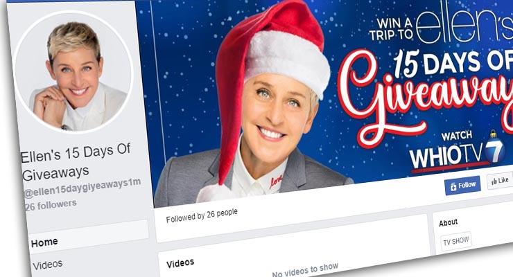 Ellens Christmas Giveaway For 2020 Is Ellen doing a Christmas giveaway on Facebook? Fact Check