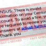 UK census 2021 text scams